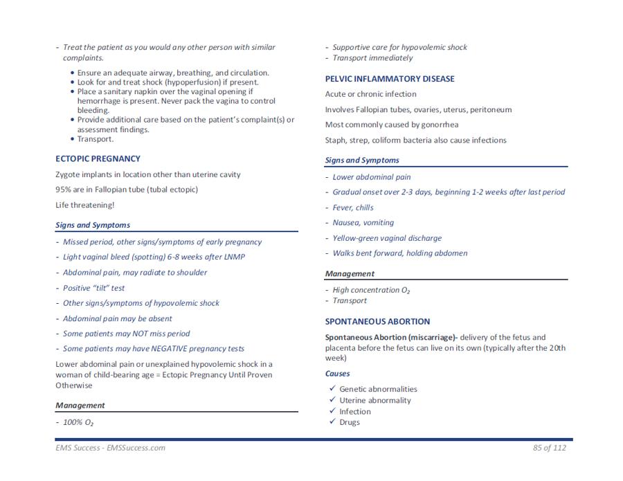 NREMT Academy - EMT-B NREMT Exam Study Guide