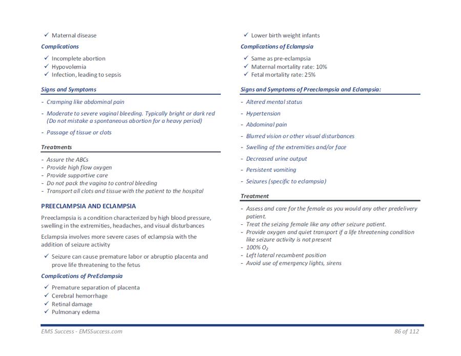 EMT Basic Examination - Study Guide Zone